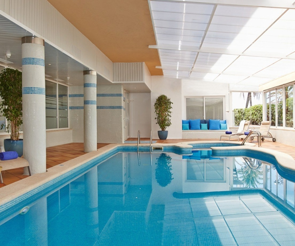 Heated swimmingpool myseahouse neptuno hotel playa de palma